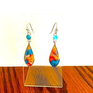 - A colourful pair of earrings